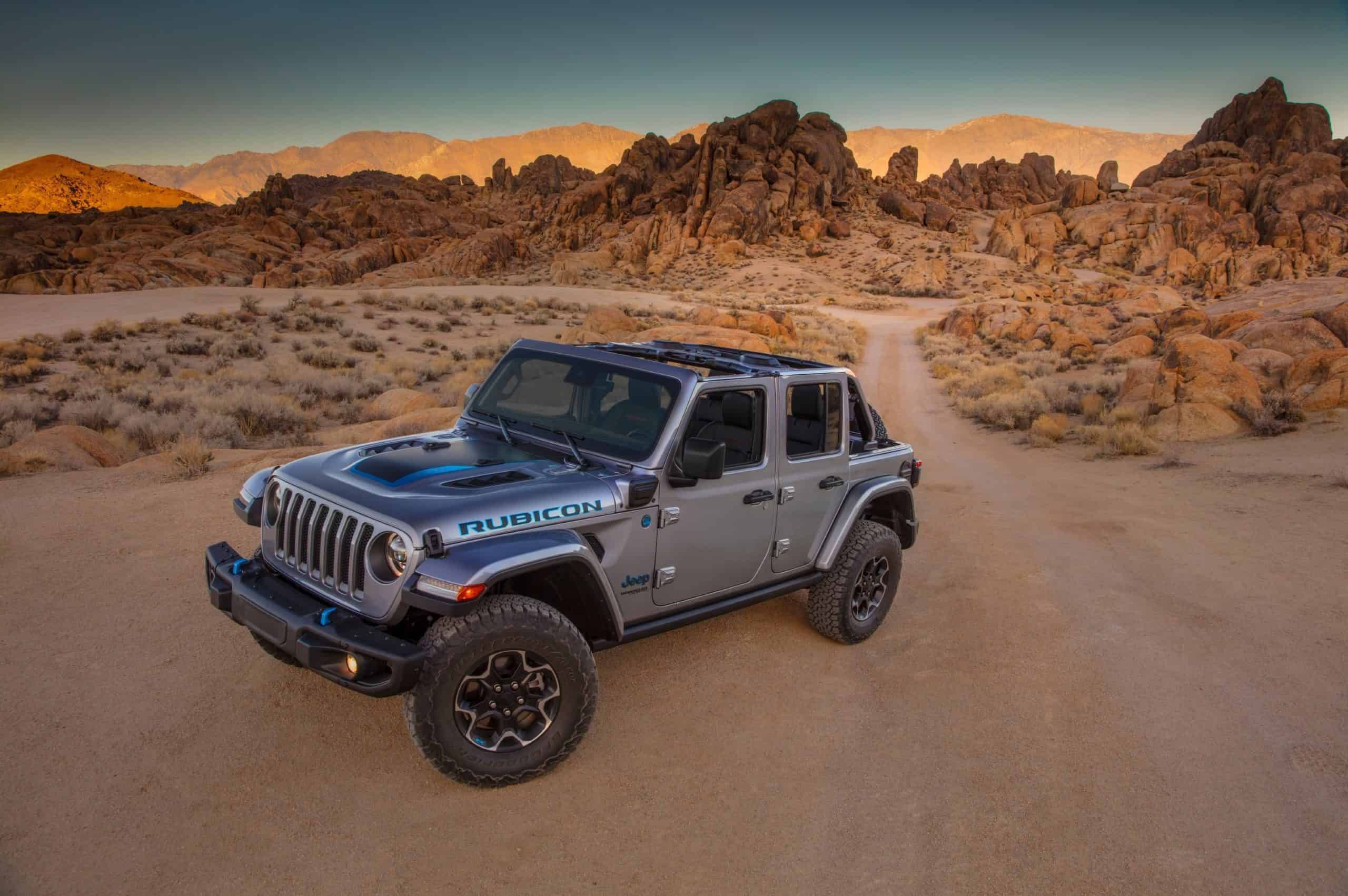 2021 Jeep Wrangler 4xe dirt road