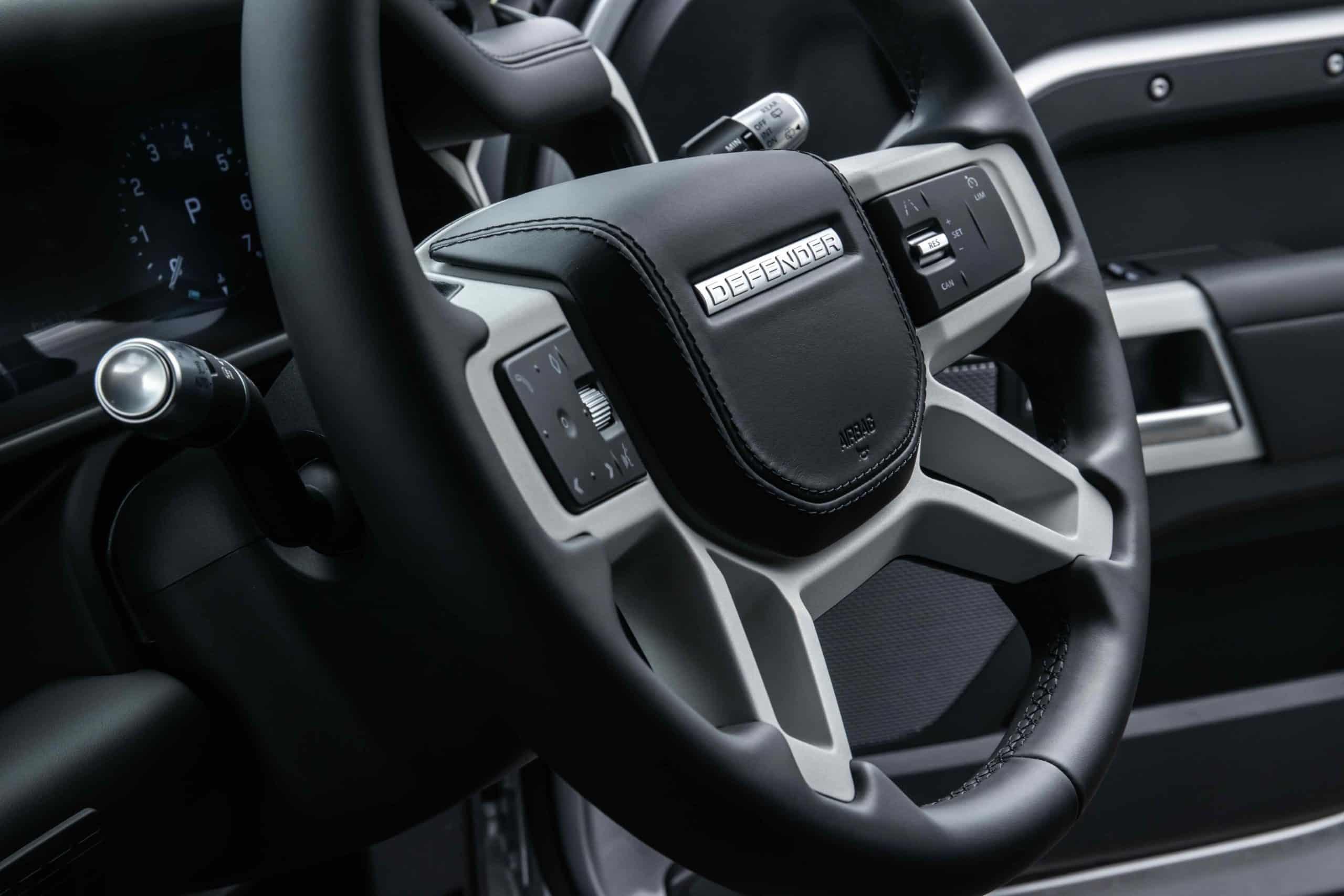 new Defender steering wheel