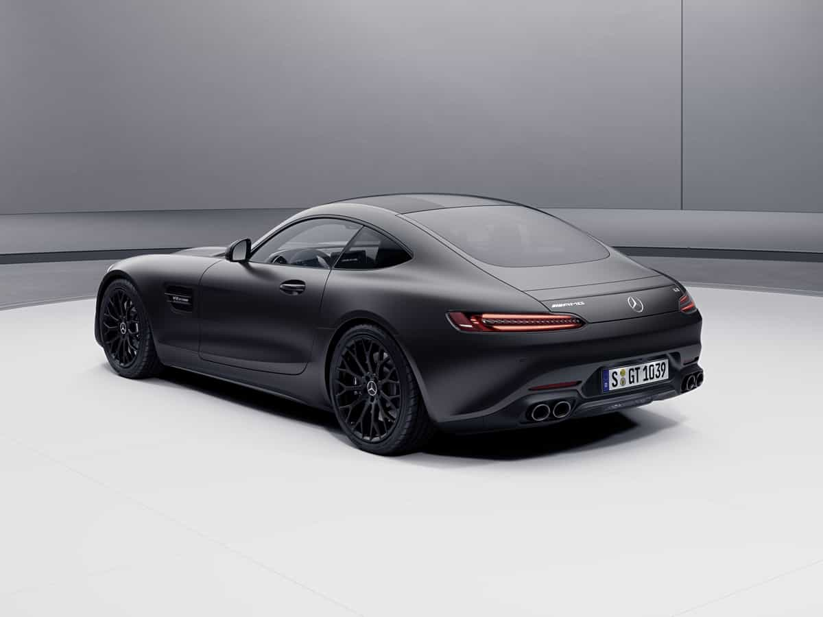 2021 Mercedes-AMG GT Stealth Edition roadster rear-end
