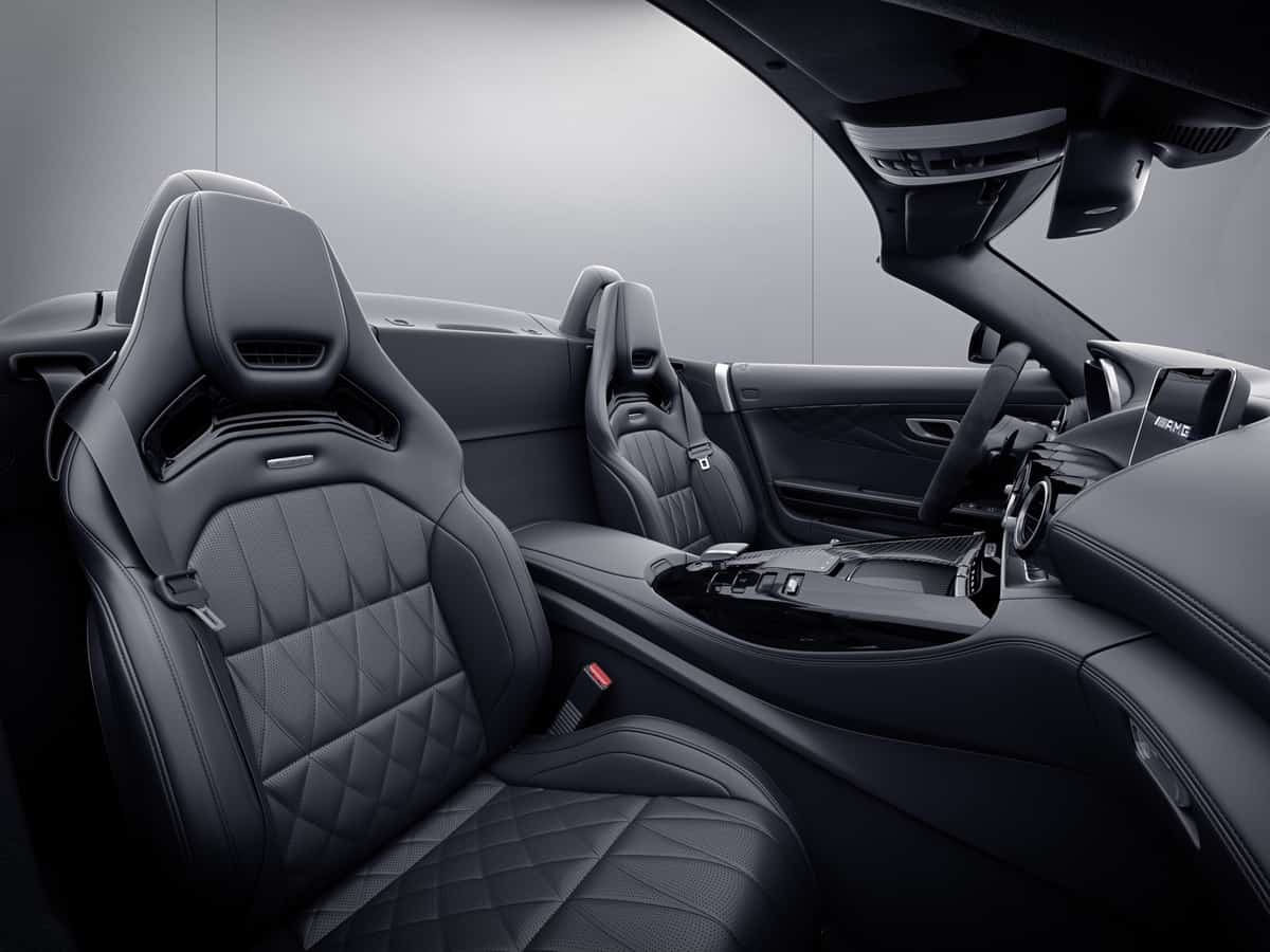2021 Mercedes-AMG GT Stealth Edition roadster interior