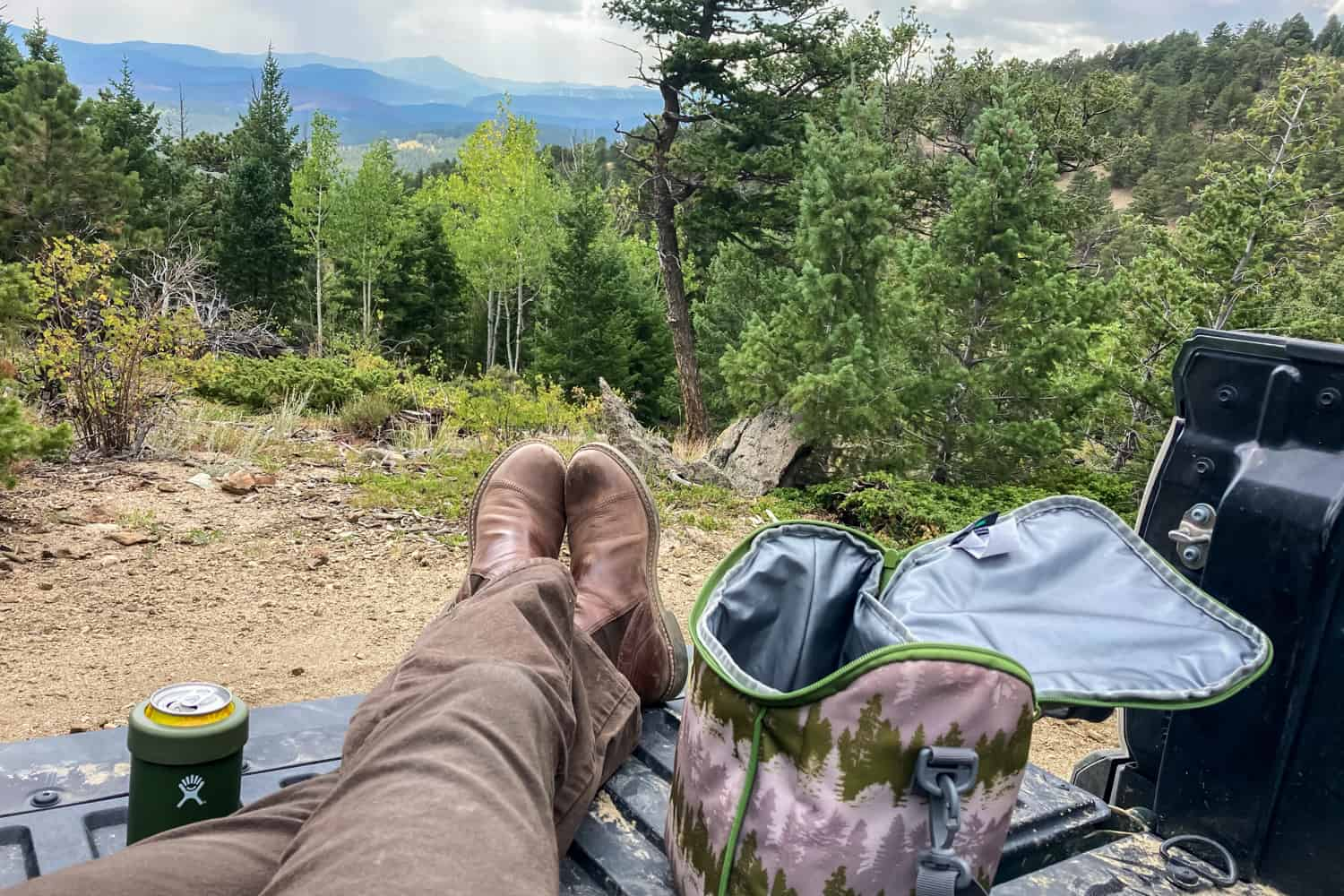 truck bed picnic with a view