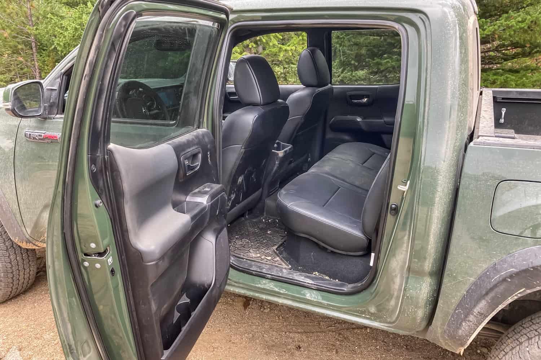 2020 Toyota Tacoma TRD Pro rear seats