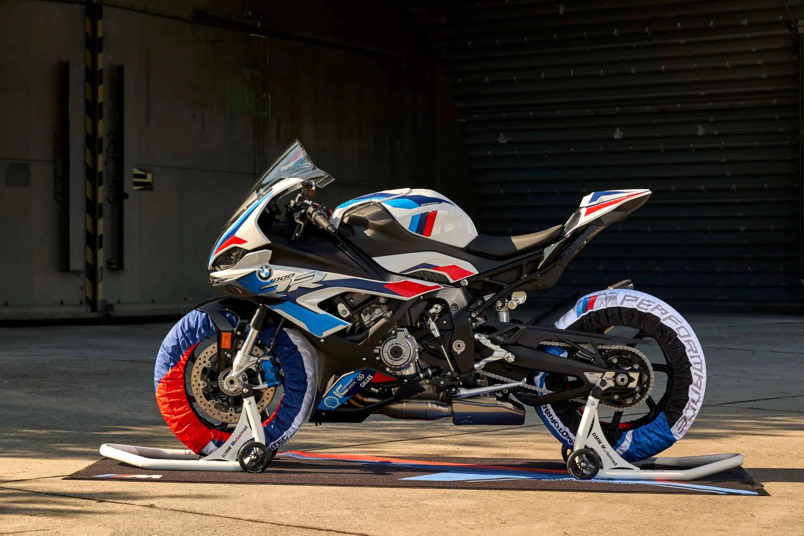 BMW M RR Side View with Tire Warmers