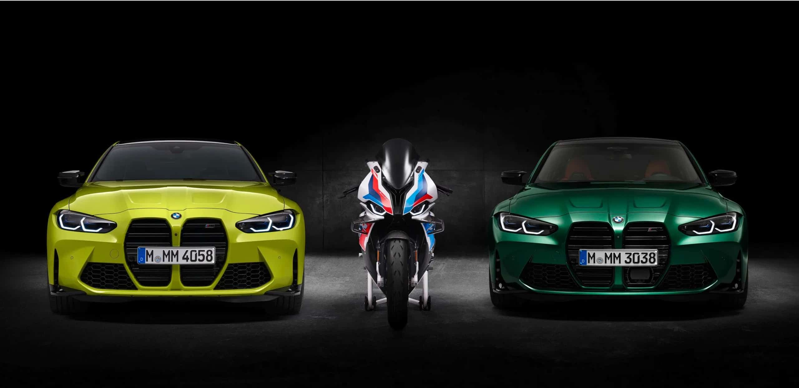 BMW M1000RR With M4 and M3