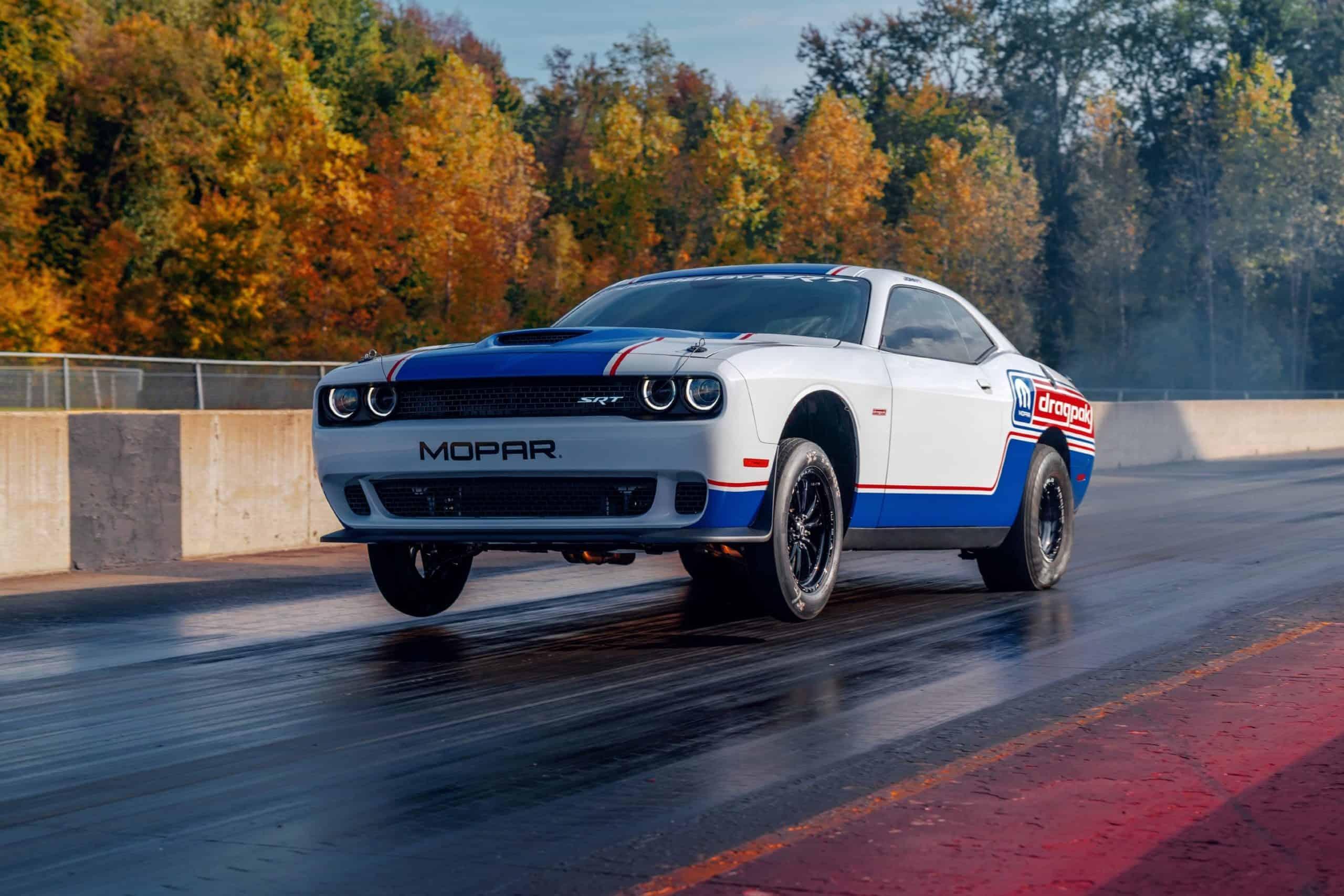 Dodge Challenger Mopar Drag Pak wheelie