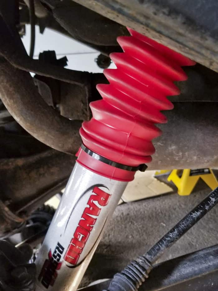 Installed Rancho RS9000XL adjustable shock