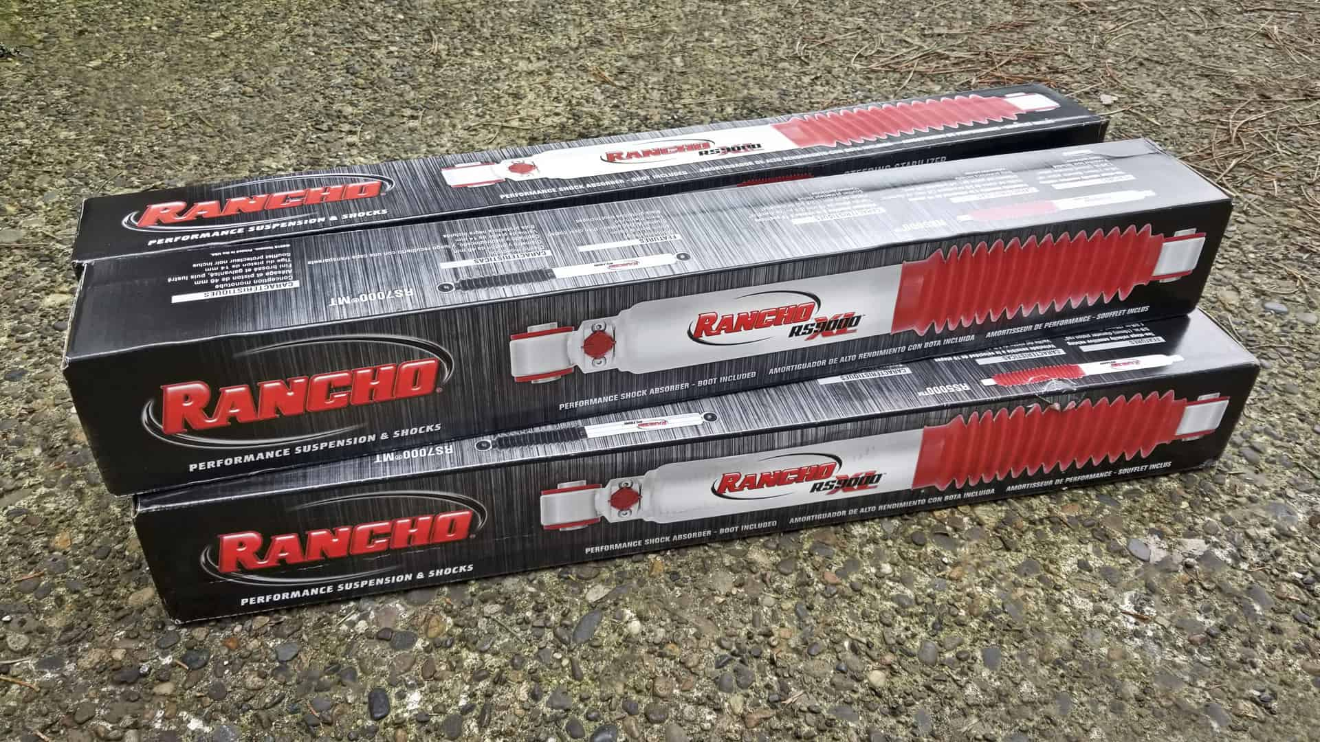 Rancho RS9000XL nine-way adjustable shocks